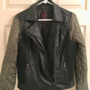 Jacket Dollhouse faux Leather puffer sleeves black
